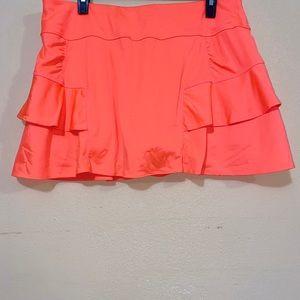 Athleta skort // athleta skirt // orange